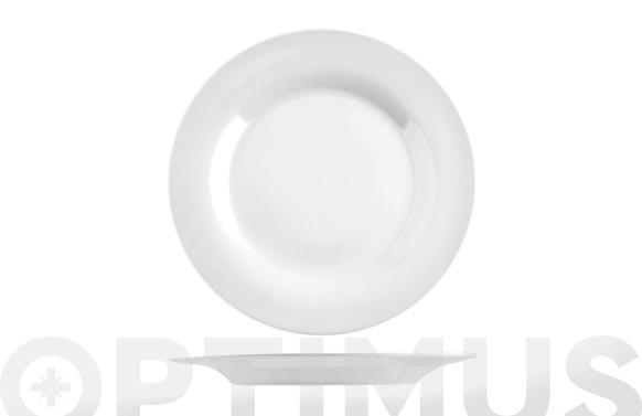 Plato porcelana blanco llano-26,5 cm