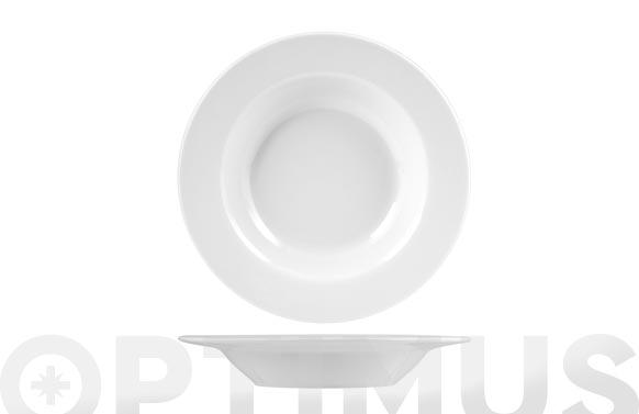 Plato porcelana blanco hondo-21,5 cm