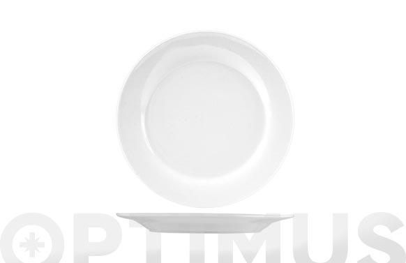 Plato porcelana blanco postre-19,5 cm