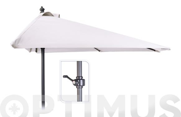 Parasol balcon c/manivela 250 cm tubo 32mm blanco