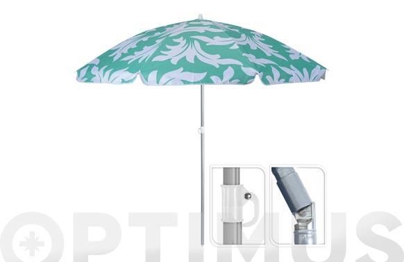 Parasol sombrilla playa ø 180 cm 4 colores surtidos