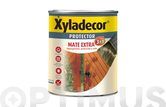 Protector mate extra 3en1 375 ml nogal