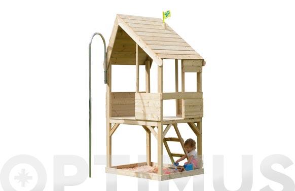 Casita madera infantil con arenero 'chalet' 99 x 92 x 225 cm 1.1m2