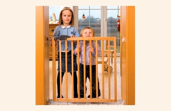 Valla seguridad infantil dual pivotante nicolas 79-114 natural barnizada