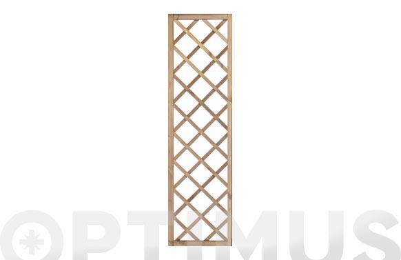 Celosia madera soprano c/marco 40 x 180 cm (luz 12,5x12,5)