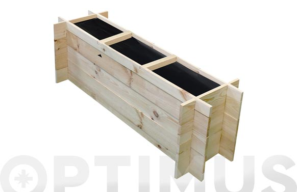 Huerto urbano madera 'pomelo' sin tratamiento 100/113 x 27,2/37,5 x h 36 cm