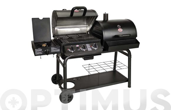 Barbacoa carbon /leña y gas 'chargriller' duo 165 x 72 x 125 cm