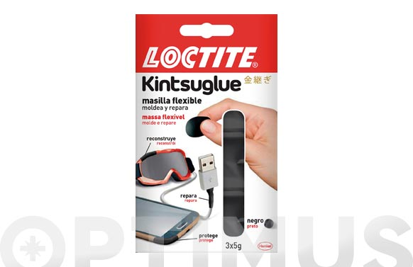 Kintsuglue masilla flexible negro 3 x 5 gr