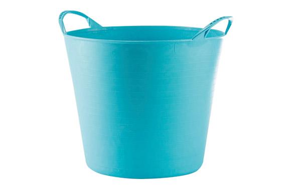 Capazo plastico flexible multiusos 26 lt azul