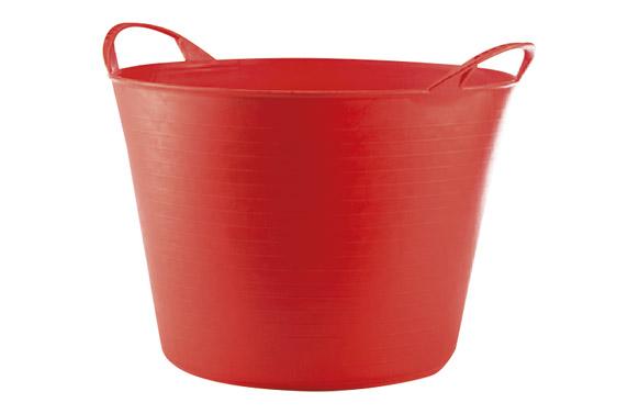 Capazo plastico flexible multiusos 26 lt rojo