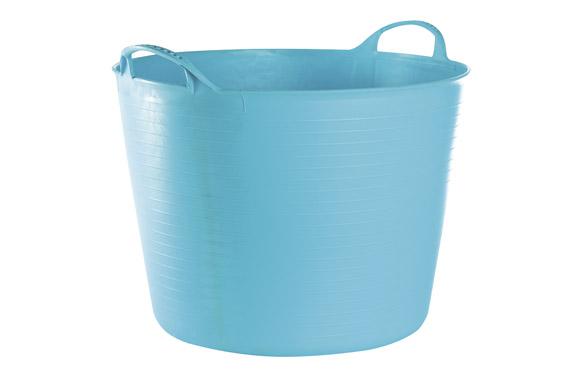 Capazo plastico flexible multiusos 42 lt azul