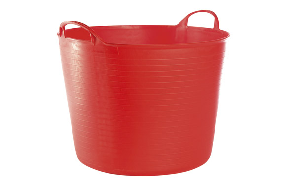 Capazo plastico flexible multiusos 42 lt rojo