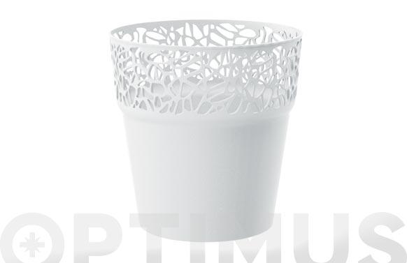 Maceta redonda naturo ø17.5 x 17.8cm 1.6lt blanco
