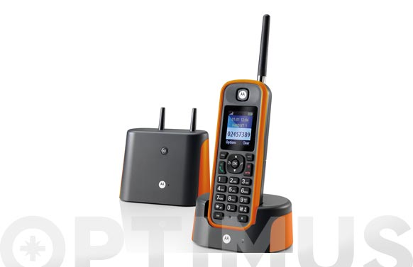 Telefono inalambrico largo alcance naranja