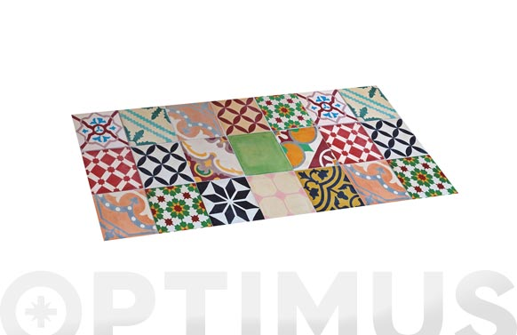 Alfombra vinilica croma mosaico color 50 x 110 cm