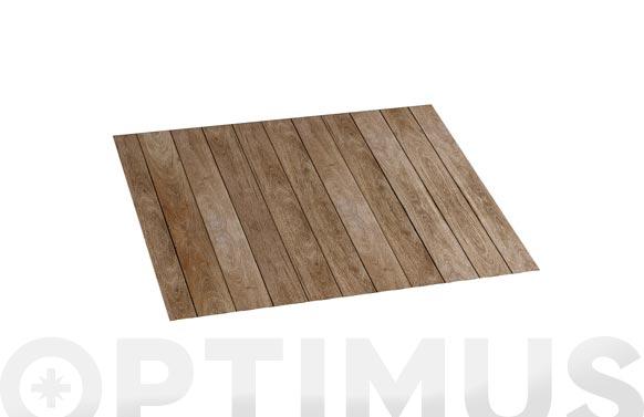 Alfombra vinilica croma 45x75 cm wood gris