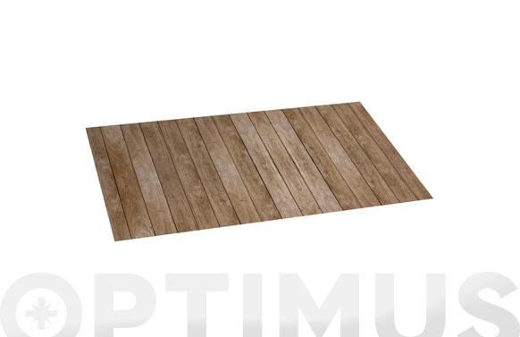 Alfombra vinilica croma 50x110 cm wood gris
