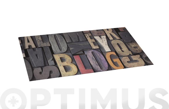Alfombra vinilica croma 50x110 cm wood letras