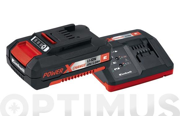 Cargador + bateria power-x 18v 2.0 ah