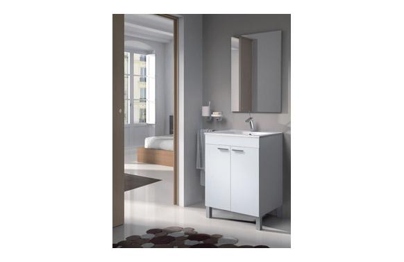 Mueble baño 60 cm + espejo lc1-60 blanco 60 x 80 x 45 cm