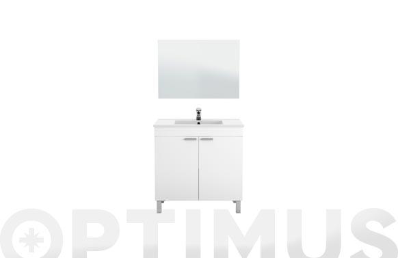 Mueble baño 80 cm + espejo lc1-80 blanco 80 x 80 x 45 cm