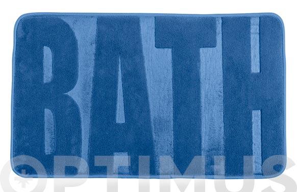 Alfombra baño goma espuma azul 80 x 50 cm