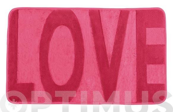 Alfombra baño goma espuma rosa 80 x 50 cm