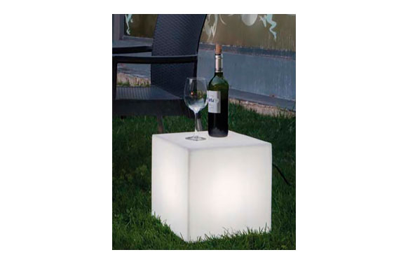 Lampara cubo bateria luz rgb 40 x 40 cm