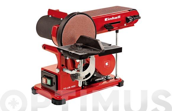 Lijadora estacionaria disco/banda tc-us 400 375w ø 150 mm / 914x100 mm