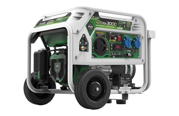 Generador propano/gasolina arranque electrico 3kva natura 3000