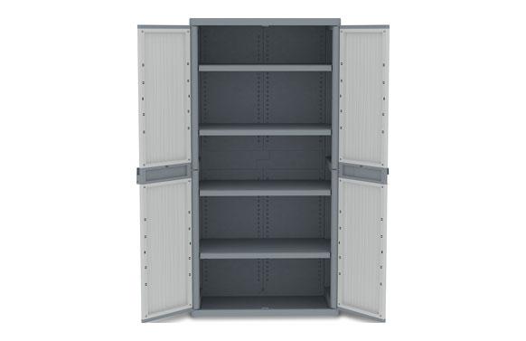 Armario resina con estantes wave jumbo xl 180 x 89,7 x 53,7 cm