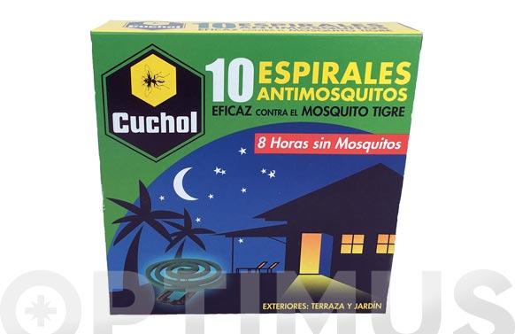 Espiral antimosquitos con insecticida 10 uds