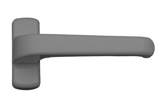 Manilla carpinteria aluminio (juego) 6800 plata