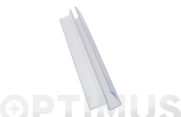 Perfil junta cruce mampara bañera 18mm/6-8mm/2mt