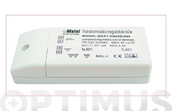 Transformador electronico 12 v 60 w