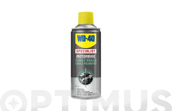 Cera y brillo spray doble accion 400 ml specialist motorbike