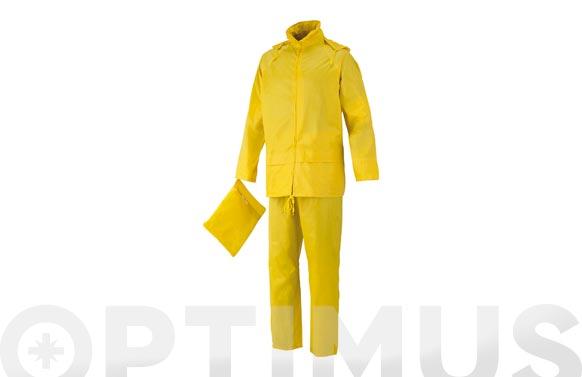 Conjunto lluvia poliester pvc amarillo t m