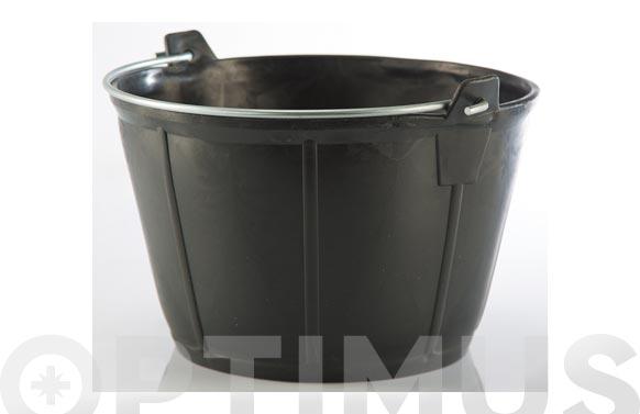 Caldereta albañil plastico negro 11 l