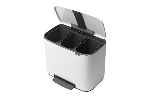 Cubo bo pedal bin blanco 3 x 11 l