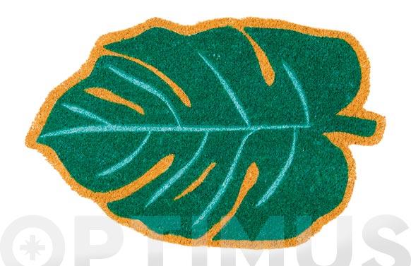 Felpudo coco forma hoja 45x70 cm