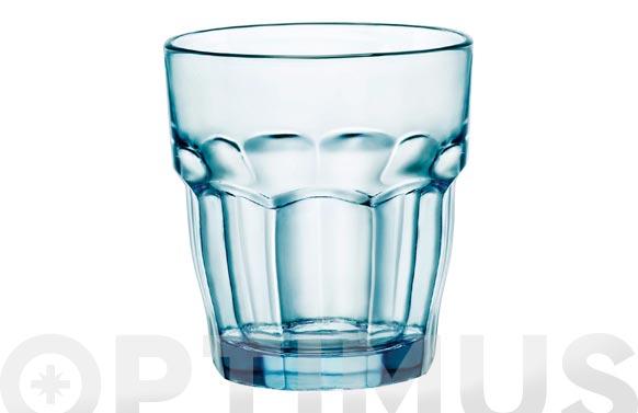 Vaso vidrio rockbar azul 27 cl