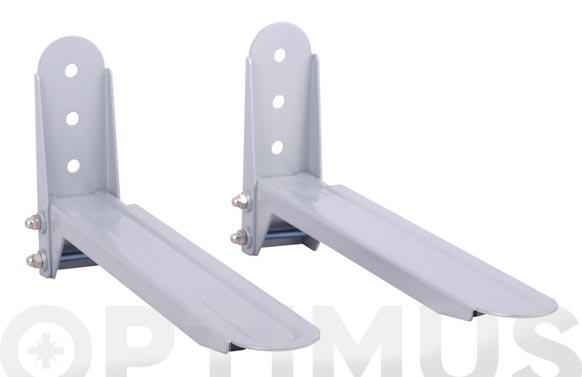Soporte microondas extensible 25 kg max blanco