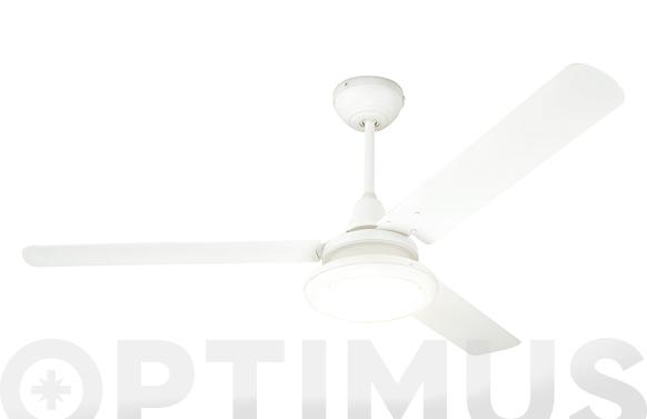 Ventilador techo ø140cm luz led y mando 3 aspas
