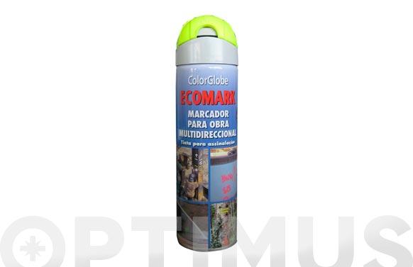 Marcador fluorescente spray ecomark amarillo 500 ml