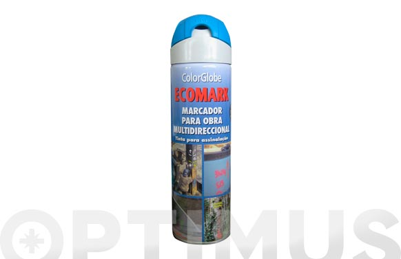Marcador fluorescente spray ecomark azul 500 ml