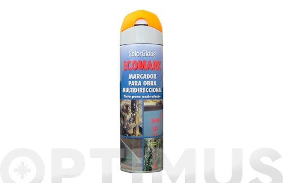 Marcador fluorescente spray ecomark naranja 500 ml