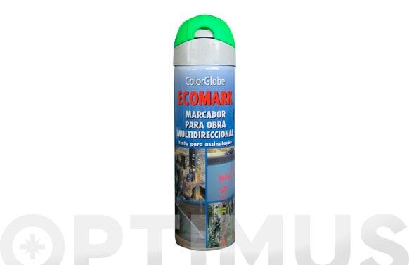 Marcador fluorescente spray ecomark verde 500 ml