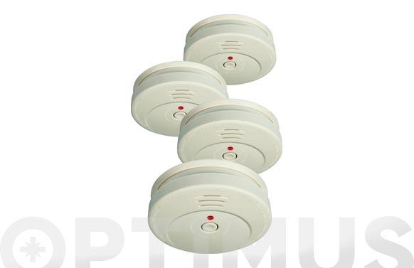 Detector de humo (4 unidades)