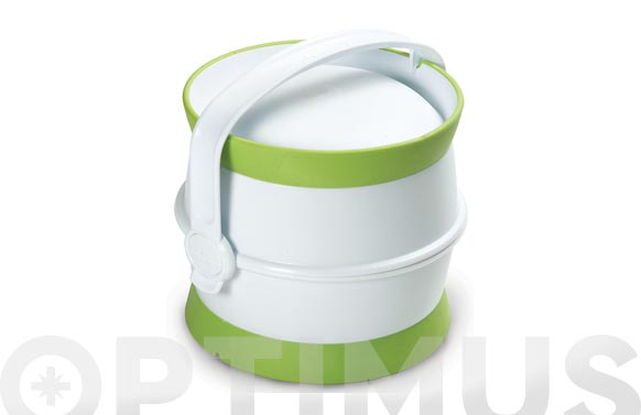 Contenedor pet food kit nomada blanco/verde
