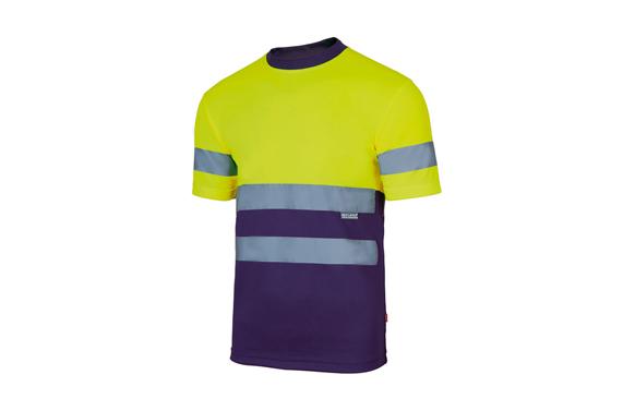 Camiseta tecnica bicolor alta visibilidad t m amarillo / marino